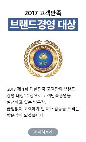 2017 고객만족 브랜드경영 대상