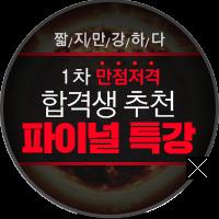 일차만점저격합격생추천 파이널특강
