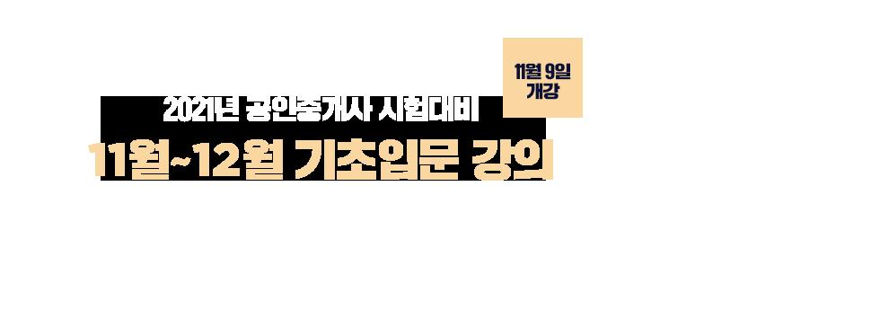 11월~12월<br/>기초입문 강의